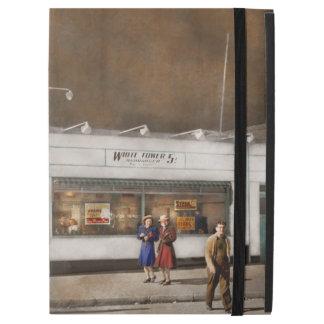 """Capa Para iPad Pro 12.9"""" Cidade - Amsterdão NY - Hamburger 5 centavos 1941"""