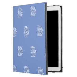 """Capa Para iPad Pro 12.9"""" Citações tristes do amor"""