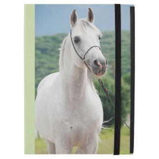 """Capa Para iPad Pro 12.9"""" coleção do cavalo. branco árabe"""