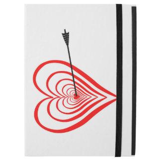 """Capa Para iPad Pro 12.9"""" Coração alvo com seta"""