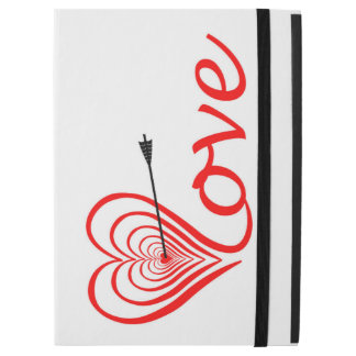 """Capa Para iPad Pro 12.9"""" Coração amor alvo com seta"""