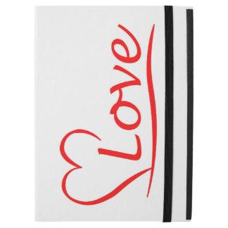 """Capa Para iPad Pro 12.9"""" Coração com amor"""