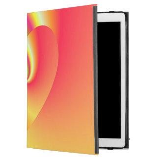 """Capa Para iPad Pro 12.9"""" Coração do amor do redemoinho do arco-íris"""