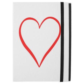 """Capa Para iPad Pro 12.9"""" Coração pintado em pano de fundo branco"""