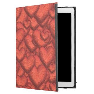 """Capa Para iPad Pro 12.9"""" Corações cintilantes vermelhos escuro"""
