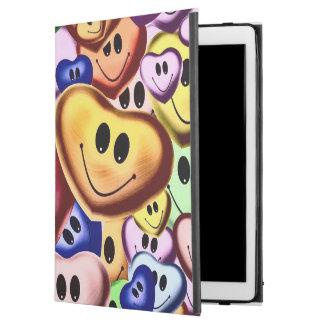 """Capa Para iPad Pro 12.9"""" Corações de sorriso engraçados A"""