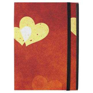 """Capa Para iPad Pro 12.9"""" corações no vermelho liso em um pro exemplo do"""
