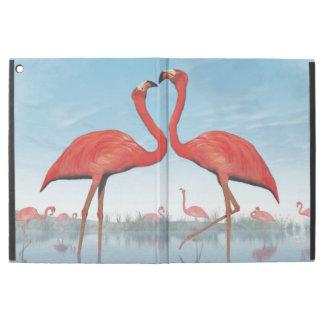 "Capa Para iPad Pro 12.9"" Corte dos flamingos - 3D rendem"