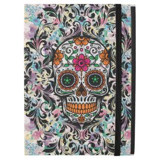 """Capa Para iPad Pro 12.9"""" Crânio floral colorido do açúcar & redemoinhos do"""