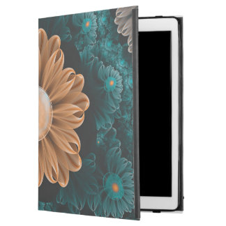 "Capa Para iPad Pro 12.9"" Crisântemo bonito do paraíso da laranja & do Aqua"