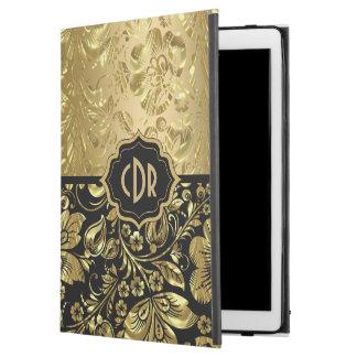"""Capa Para iPad Pro 12.9"""" Damascos brilhantes do ouro no fundo preto GR2"""