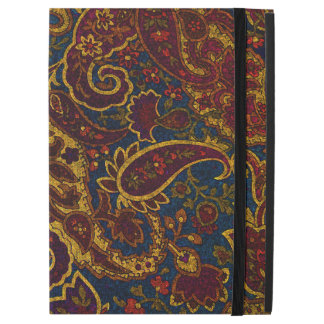 "Capa Para iPad Pro 12.9"" Design bonito de paisley do marrom escuro do"