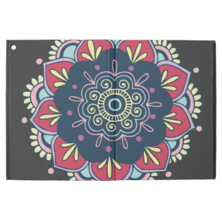"Capa Para iPad Pro 12.9"" Design colorido da mandala"