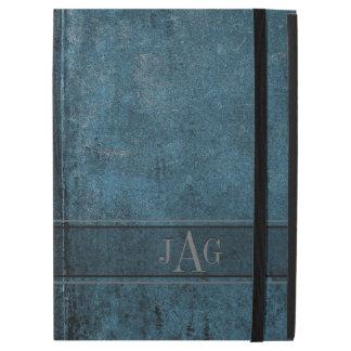"""Capa Para iPad Pro 12.9"""" Design rústico do livro azul do Grunge"""