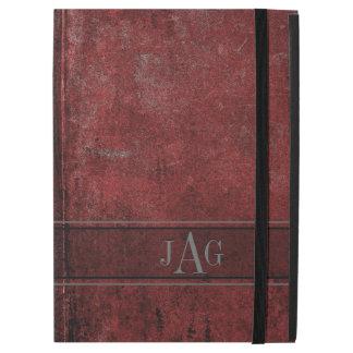 """Capa Para iPad Pro 12.9"""" Design vermelho do livro do Grunge rústico"""