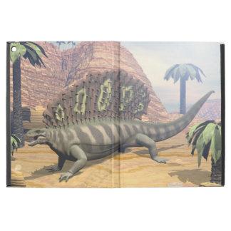 """Capa Para iPad Pro 12.9"""" Dinossauro do Edaphosaurus que anda no deserto"""