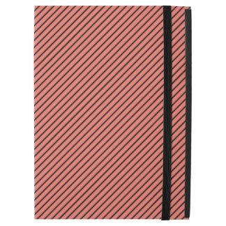 """Capa Para iPad Pro 12.9"""" Eco do pêssego e listra preta"""