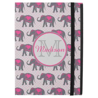 """Capa Para iPad Pro 12.9"""" Elefantes cor-de-rosa quentes cinzentos em"""
