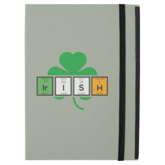 "Capa Para iPad Pro 12.9"" Elemento químico Zz37b do cloverleaf irlandês"