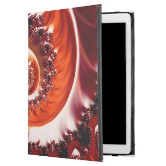 """Capa Para iPad Pro 12.9"""" Espiral carmesim do Fractal da paixão, coração do"""