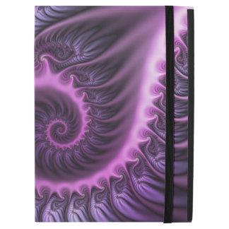 """Capa Para iPad Pro 12.9"""" Espiral roxa cor-de-rosa legal da arte do Fractal"""