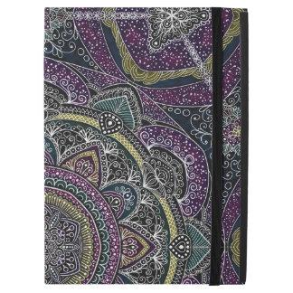 """Capa Para iPad Pro 12.9"""" Estrelas sagrados e laço da mandala roxos e pretos"""