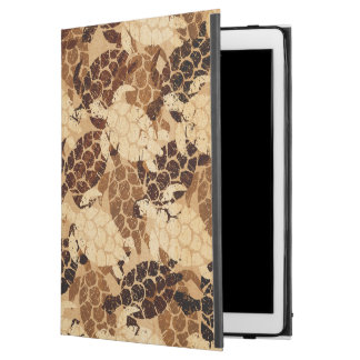 "Capa Para iPad Pro 12.9"" Falso do Hawaiian da tartaruga de mar de Honu"