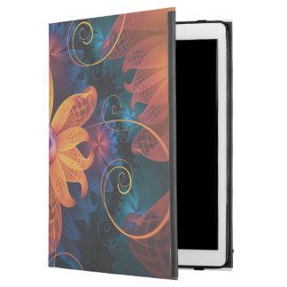 """Capa Para iPad Pro 12.9"""" Flor Alaranjado-Azul bonita da orquídea do anjo do"""