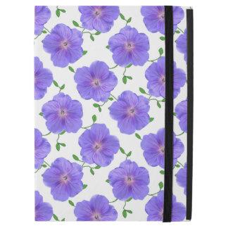 """Capa Para iPad Pro 12.9"""" Flor azul do gerânio do jardim em alguma cor"""
