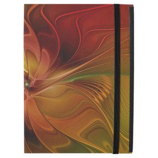 """Capa Para iPad Pro 12.9"""" Flor verde alaranjada vermelha abstrata da arte do"""