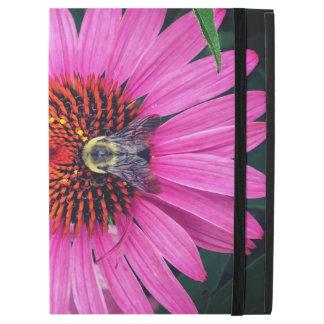 """Capa Para iPad Pro 12.9"""" Flores cor-de-rosa vívidas com abelha"""