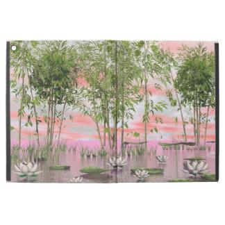 """Capa Para iPad Pro 12.9"""" Flores e bambus de Lotus - 3D rendem"""