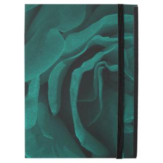 """Capa Para iPad Pro 12.9"""" Foto floral dos rosas aveludado azul esverdeado"""