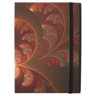 """Capa Para iPad Pro 12.9"""" Fractal moderno abstrato luminoso do vermelho"""