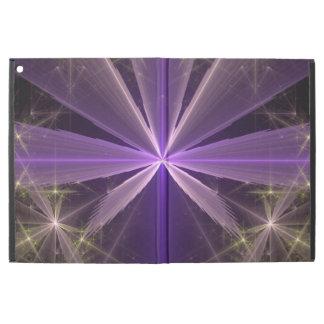 """Capa Para iPad Pro 12.9"""" Fractal violeta do abstrato da flor da estrela"""