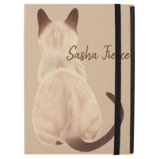"""Capa Para iPad Pro 12.9"""" Gatinho da mamã do gato Siamese de Sasha que olha"""