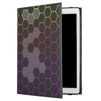 """Capa Para iPad Pro 12.9"""" Hex da cor com cinza"""