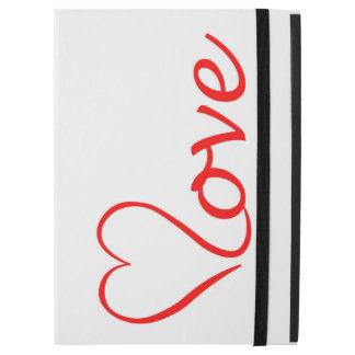 """Capa Para iPad Pro 12.9"""" Love coração em pano de fundo branco"""