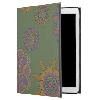 """Capa Para iPad Pro 12.9"""" Malva & flores do ouro"""