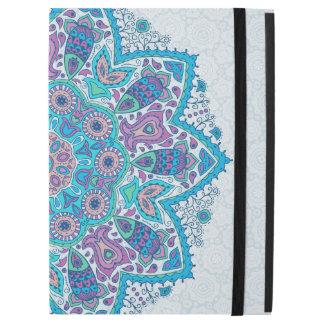 "Capa Para iPad Pro 12.9"" Mandala geométrica floral colorida"