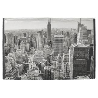 """Capa Para iPad Pro 12.9"""" Manhattan, New York (panorama preto & branco)"""