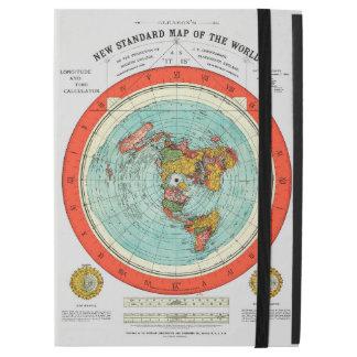"""Capa Para iPad Pro 12.9"""" Mapa padrão novo da terra lisa Earther do mundo"""