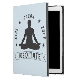 """Capa Para iPad Pro 12.9"""" O amor vivo do riso Meditate o texto masculino (o"""