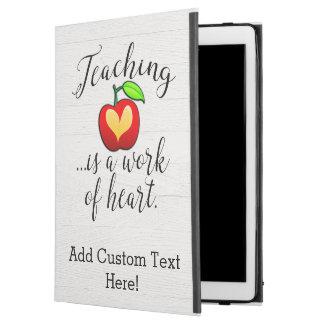 """Capa Para iPad Pro 12.9"""" O ensino é um trabalho da apreciação do professor"""