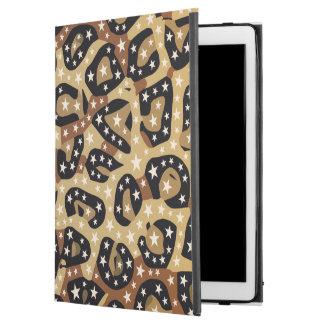 """Capa Para iPad Pro 12.9"""" O impressão da chita de Brown Stars o pro caso do"""