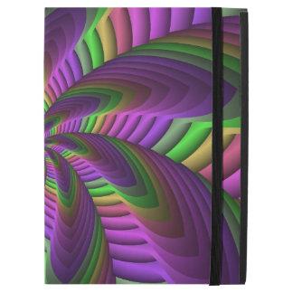 "Capa Para iPad Pro 12.9"" O néon colore o teste padrão colorido louco"