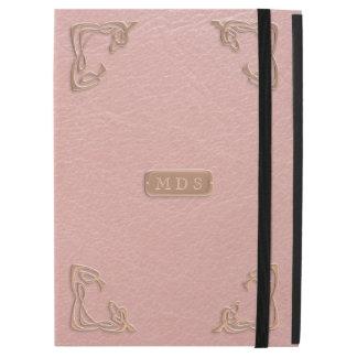"""Capa Para iPad Pro 12.9"""" O rico cor-de-rosa do couro do ouro do falso"""