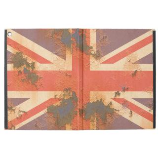 """Capa Para iPad Pro 12.9"""" O vintage oxidou bandeira de Reino Unido"""