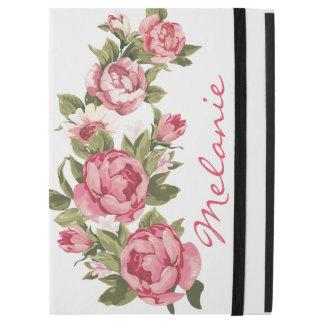 """Capa Para iPad Pro 12.9"""" O vintage personalizado cora peônias cor-de-rosa"""