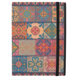 "Capa Para iPad Pro 12.9"" Ornamento de talavera do mosaico do vintage"